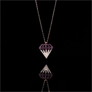 De Luxe Necklace, Pink Power of Diamond