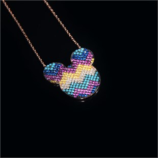 De Luxe Necklace, Colorful Mickey Mouse
