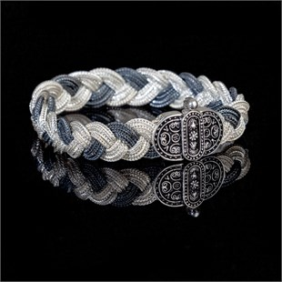 Highness Black & White Braid Bracelet