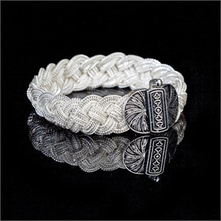 Highness Double White Braid Bracelet