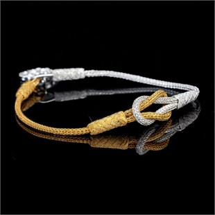 Magic Ancient Touch, White & Gold Plated Bracelet