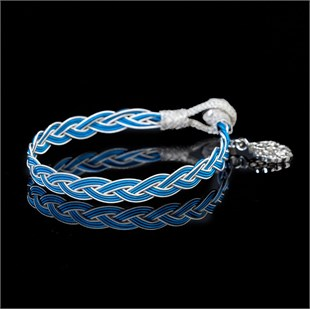 Royal Braid, White & Blue Bracelet