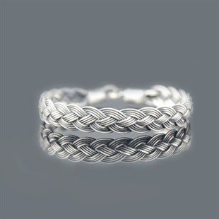 Royal Braid, Grey Bracelet