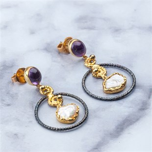De Luxe Earring, Purple Star