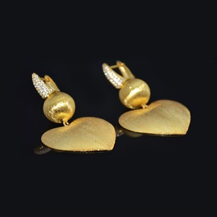 Premium Gold Plated Love Earrings
