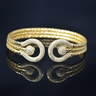 Premium Gold Plated Stones Bangle