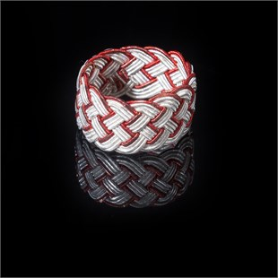 Ephesus Ring, White & Red