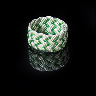 Ephesus Ring, Green & White